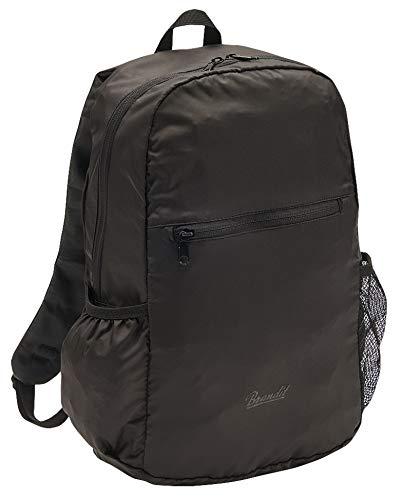 Brandit Roll Bag - Mochila Plegable de Viaje, Extra Ligera, 15 litros, Negro (Negro) - 8038-2