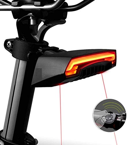 EMK Sports USB Rechargeable Smart Bike Tail Light Wireless Turning Signal Bike Light Bicycle Rear Light with a Wireless Remote Control Cycling Safety Warning Light