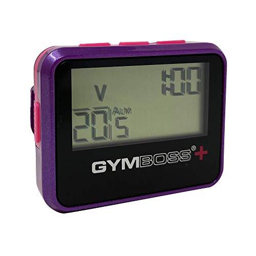 Gymboss Plus Intervall-Timer und Stoppuhr - VIOLETT/ROSA METALLIC-Hochglanz