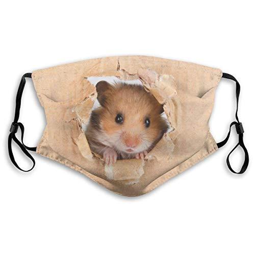 Fillter Gezicht Doek Voor Mannen Kleine Hamster Voedsel Verstelbare Waterdichte Mond Stofdichte Oor Lussen Voor Camping Dubbele Bescherming