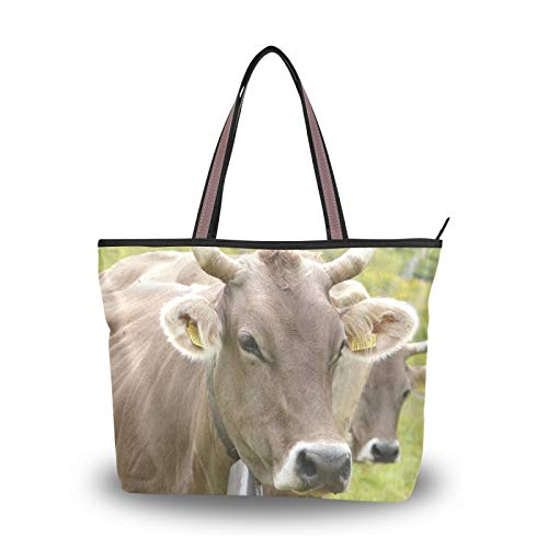 NaiiaN para mujeres, niñas, señoras, estudiantes, peso ligero, correa, bolsos, bolso de mano, bolso de compras, remolque, bolsos de hombro de vaca