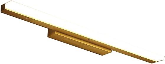 YSDHE LED Bathroom Mirror Front Light, Vintage Mirror Cabinet Light Makeup Lamp, Waterproof Anti-fog Moisture-proof Wood + Acrylic Lampshade Bathroom Lamp [Energy Saving A ++] (Color: Warm Light, Whit