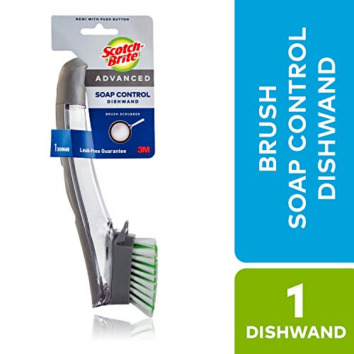 Scotch-Brite Advanced Soap Control Dishwand Brush, Keep Your Hands Out Of Dirty Water, Long Lasting and Reusable