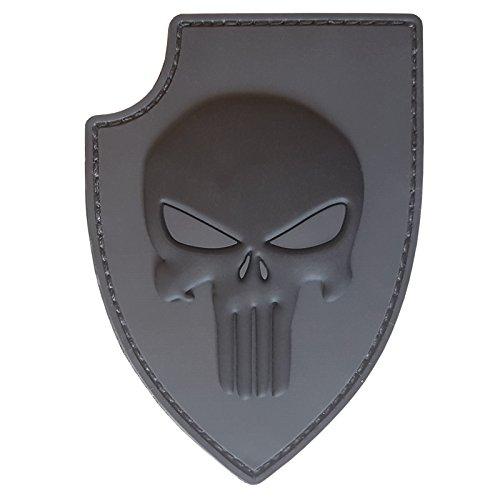2AFTER1 ACU Gray PVC 3D Rubber Punisher Skull USA Sealteam DEVGRU Glow Dark Fastener Patch