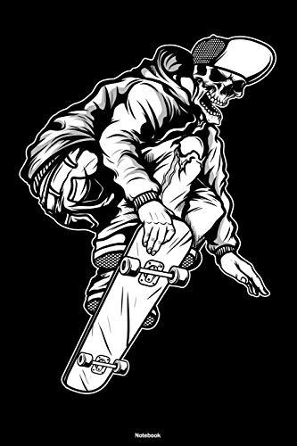 Notebook: Skateboarding Skull Journal Skateboard Composition Book Skateboarder Gift