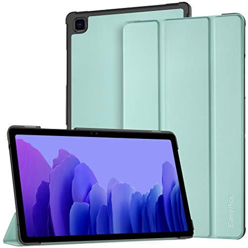 EasyAcc Custodia Cover Compatibile con Samsung Galaxy Tab A7 10.4 2020 SM-T500 T505 T507 Tablet, Ultra Sottile Smart Cover in Pelle con Sonno Sveglia (Verde Menta)