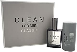 Clean Fragrance Set for Men, Classic (Pack of 2)