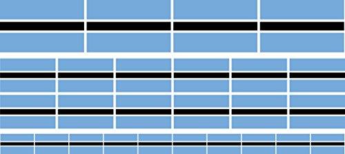 Mini Fahnen-Flaggen Set glatt - 4 x 51x31mm+ 12 x 33x20mm + 10 x 20x12mm- Aufkleber - Botswana - Sticker fürs Büro, Schule & zu Hause - Set of 26
