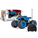 Sharper Image Remote Control Mini Monster Rockslide Truck, 1:24 Scale, 27 MHz, Blue