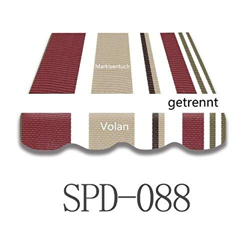 Home & Trends Preisgünstige Markisen Tuch Markisenbespannung Ersatzstoffe Maße 4 x 3 m Markisenstoffen Dunkel Grau OHNE Volant fertig genäht mit Umrandung (SPD088)