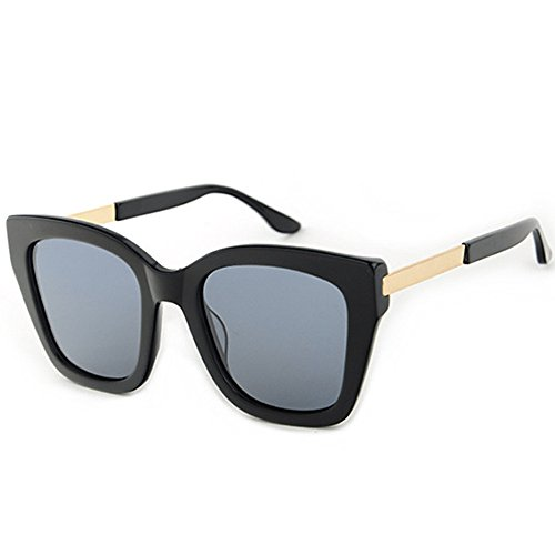 Frauen Sonnenbrillen Damen Polarisierte Sonnenbrille Unregelmäßige Übergroße Katzenaugen-Sonnenbrille Acetat-Faser-Rahmen TAC-Objektiv UV-Schutz, der Party-Ferien-Sonnenbrille fährt Klassische polaris