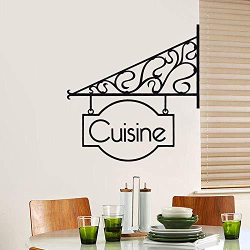 KDSMFA firma cocina arte pegatina restaurante cocina vinilo extraíble pegatinas de pared DIY decoración del hogar papel tapiz impermeable 20x21cm