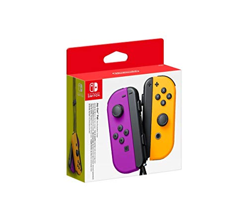 Nintendo Paire de Manettes Joy-Con Gauche Violet Néon/Droite Orange Néon