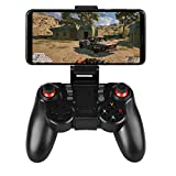 Linkstyle Wireless Game Controller Bluetooth Mobile Gamepad Joystick Game Handle with Retractable Phone Holder Clip Compatible for Android/iOS Smartphone
