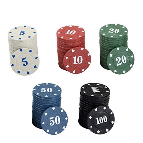 NUOBESTY 100 X Poker Roulette Casino Chips Plastikzählzähler Spielmarken