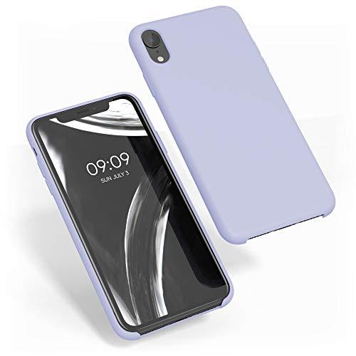 kwmobile Funda Compatible con Apple iPhone XR - Carcasa de TPU para móvil - Cover Trasero en Lavanda Pastel