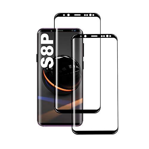 Galaxy S8 Plus Film Protection Ecran Verre Trempé, [2 Pièces] [Full Coverage] [Ultra Claire] [sans Bulles] Film Protecteur en Verre trempé de Haute qualité pour Samsung Galaxy S8 Plus