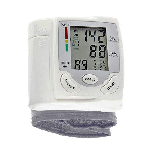Misuratore di Pressione da Polso,Display LCD Monitor per la pressione arteriosa Misuratore di impulsi da polso Pulsometro digitale automatico Sfigmomanometro Strumento diagnostico della famiglia