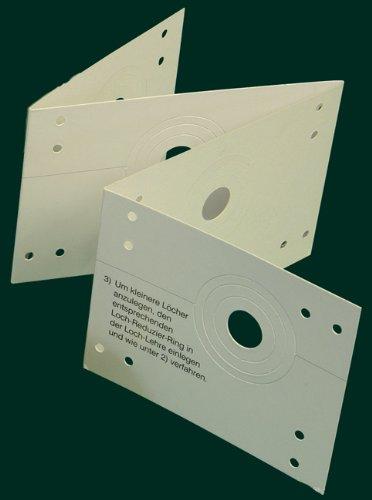 Lochlehre (Zubehör zur Anfertigung von Stoffösen-Dekorationen), weiß, Lochabstand 12 cm/Aufmachung 1 Stück