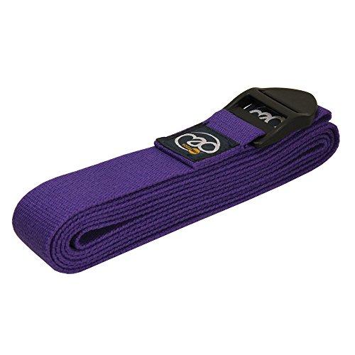 Yoga Mad - Cinturón para Yoga (2 m, algodón) Morado Morado