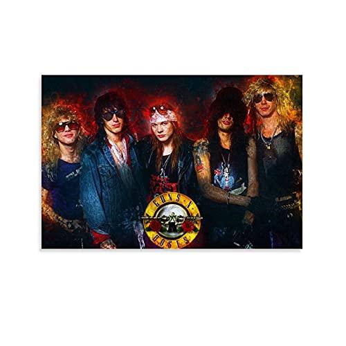LOPOA Guns N Roses - Poster decorativo da parete per soggiorno, camera da letto, 20 x 30 cm