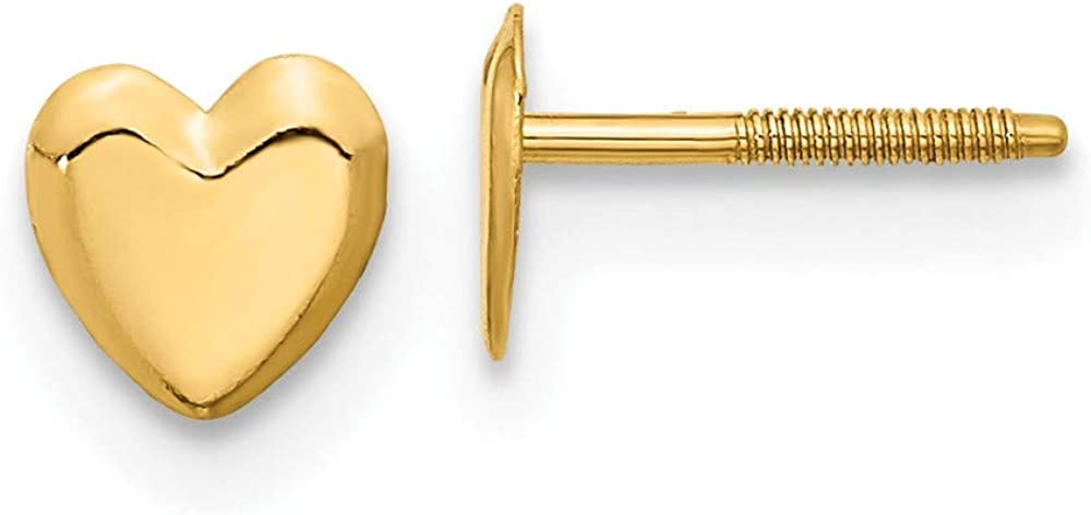 14k Yellow Gold Heart Post Stud Earrings Love Fine Jewelry For Women Gifts For Her