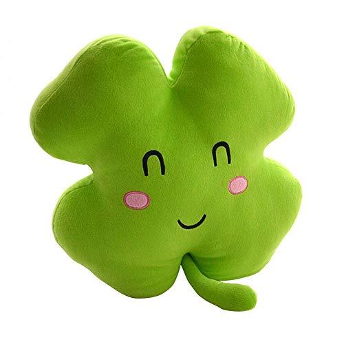 HHtoy Creative-Plüsch-Spielzeug 40cm Lucky Clover vierblättriges Kleeblatt-Kissen-weiche Puppe-Kissen-Geschenk (Color : Four-Leaf Clover)