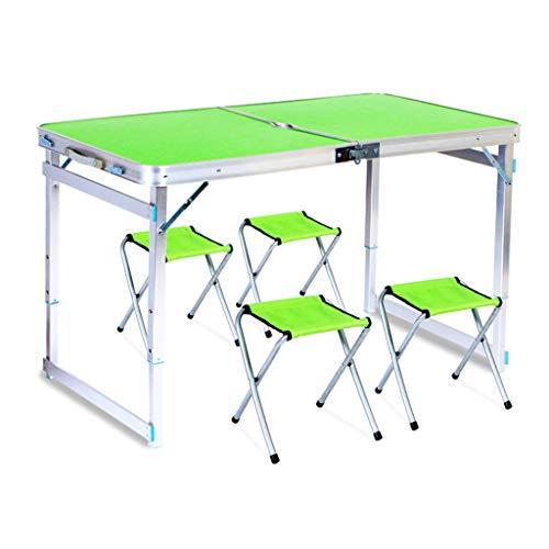 Oikupe Klapptisch Grilltisch im Freien Klappgartenbalkon Camping Tisch Picknicktisch Esstisch 120x60cm,Grün