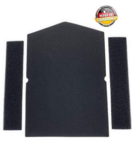 Filterset voor Miele 6057930 + 9688381 droger warmtepompdroger | sponsfilter filtermat condensdroger | Made in Germany pluisfilter schuimfilter spons