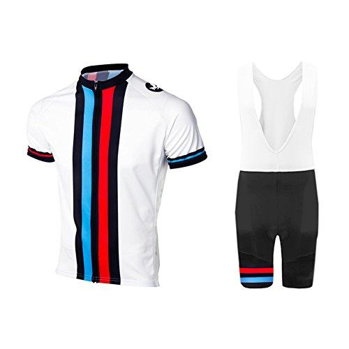 UGLY FROG Conjunto de ciclismo para hombre, ropa de ciclismo de verano, camiseta de manga corta + peto de gel, cojín transpirable y secado rápido para bicicleta de montaña
