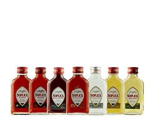 Geschenkset Mini Soplicas | Polnischer Wodka/Likör | 7 x 0,1 Liter
