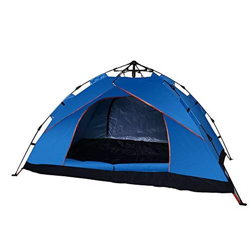 Hourongw Leichtes Campingzelt, 2-3 Personen Doppeltür Schnell Automatisches Öffnen Zelt Wasserdicht Instant Pop Up Faltzelt für Familien Picknick, Strand, Garten, Angeln