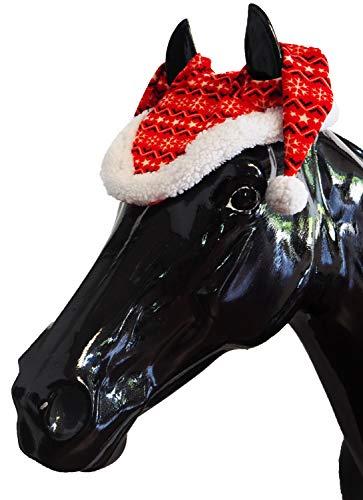 Horse Guard Pferde Weihnachtsmütze Ohrenhaube rot/mit weißem Aufdruck