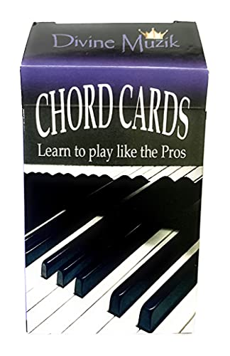 Chord Cards - Piano Based Flash Cards, Rootless Chords, Performance Voicing's, Color Coded Music Theory and Memory Games, Chord Recognition, 6 different (Interval patterns) chord inversions.