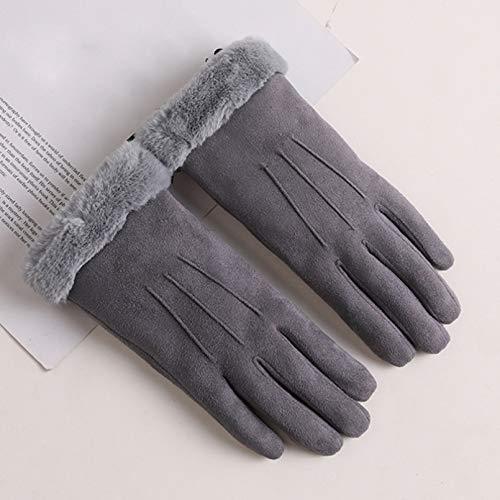 WANGY Guantes de Invierno con Pantalla táctil para Mujer, Guantescálidos para Dedos completos, Guantes de Invierno para Mujer