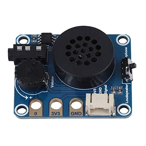 Tonysa Módulo de Altavoz, Tarjeta de expansión, módulo de Altavoces para Micro: rutinas gráficas bit/Python, etc. con Chip Onboard NS8002, Salida de Auriculares, Compatible con Arduino