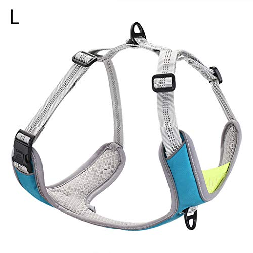 haninetrosty Pet Dog Harness Vest Adjustable Chest Strap with Buckle Breathable Reflective