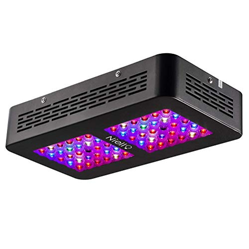 Niello® LED Pflanzenlampe 300W Led Grow Lampe Optical Lense Series LED Grow Light UV IR Vollspektrum Wachsen Licht Pflanzenlicht mit Veg & Bloom für Zimmerpflanzen Gemüse und Blumen