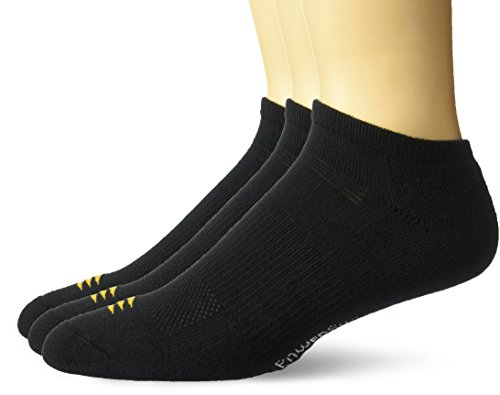 PowerSox Men's 3-Pack Cushion Low Cut Socks with Coolmax, black, 10-13(9-12.5 shoe size)