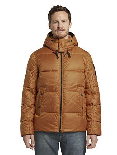 TOM TAILOR Pufferjacke Jacket, 14301 – Spicy Pumpkin Orange, L Homme