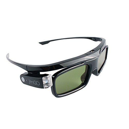 JmGO HGL1 Active 3D Glasses DLP-Link Liquid Crystal Shutter Rechargeable 3D Glasses for All DLP Technology 3D Projectors