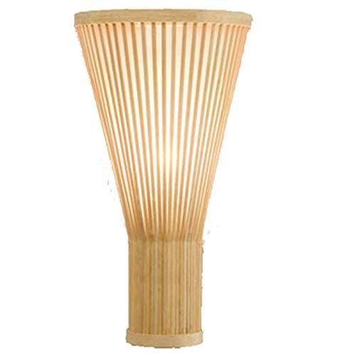 Fransande - Lámpara de pared de bambú y mimbre de mimbre,