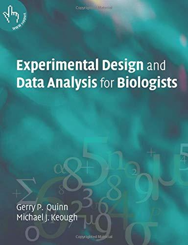 Experimntl Design Data Anl Biol 1ed