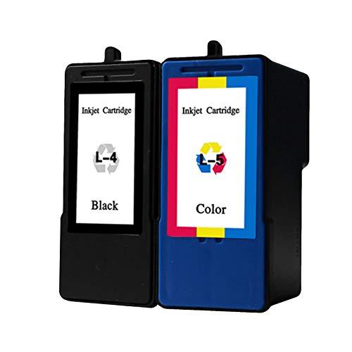 Cartucho de tinta L-4 L-5, repuesto de alto rendimiento para impresoras Lexmark X2690 X3690 X4690 X5690 Cartuchos de tinta de inyección de tinta compatibles con chip negro y combinación de color