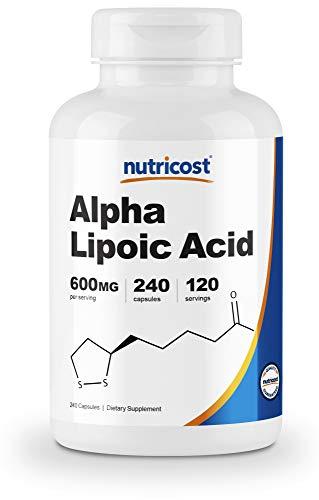 Nutricost Alpha Lipoic Acid 600mg Per Serving, 240 Capsules - Gluten Free, Veggie Capsules, Soy Free & Non-GMO