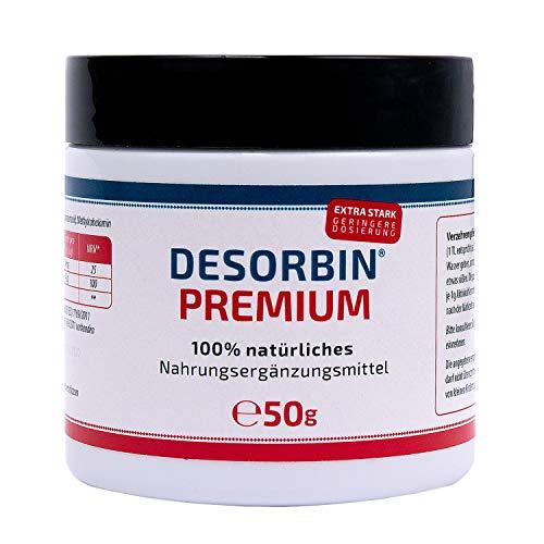 100% natürliches Aktivkohle Pulver • Magen-Darmpflege • Zahnaufhellung • Gesichtsmaske • mit Magnesium & Vitamin B12 • Desorbin PREMIUM Aktivkohle Nahrungsergänzungsmittel 50 g