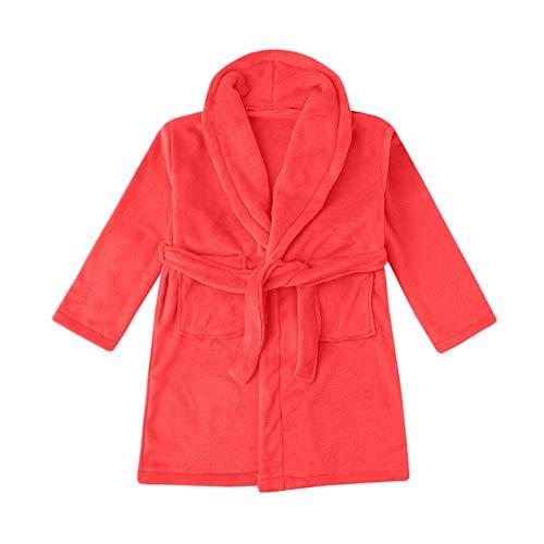 Girls' Sleeper Robe Toddler Baby Boys Girls Flannel Bathrobes Towel Night-Gown Pajamas Sleepwear Solid Homewear Clothing