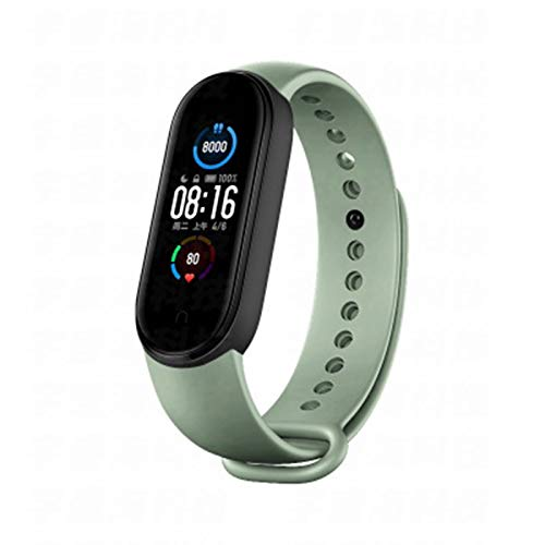 JXFF 1,1 Pulgadas De Pantalla para Hombres Y Mujeres Deportes Reloj Inteligente Pulsera Tarifa Cardíaca Rastreador De Fitness Bluetooth5.0 Pulsera Inteligente Multifuncional Impermeable,A