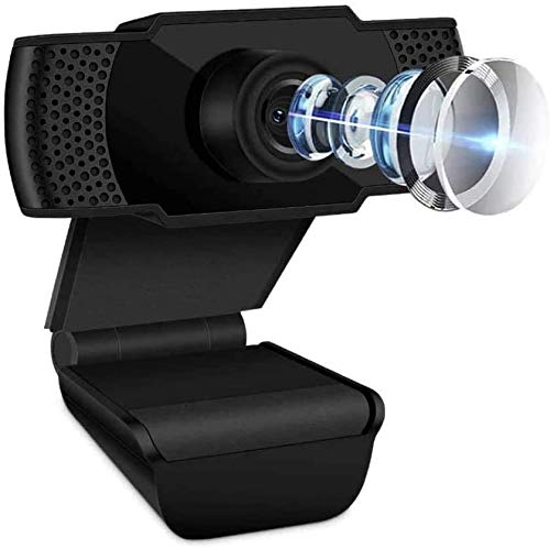 1080P Webcam with Microphone, HD Streaming Computer Webcam for PC Video Conferencing/Calling/Gaming, Laptop/Desktop Mac, Skype/YouTube/Zoom/Facetime, Plug and Play USB Webcam