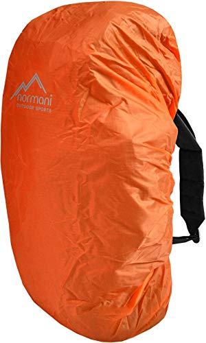 normani wasserdichter Regenueberzug Raincover Regenhülle für Backpacks Rucksack Farbe Orange Größe 80-90 Liter